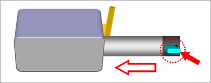 デッドボルトタイプの施錠例-①